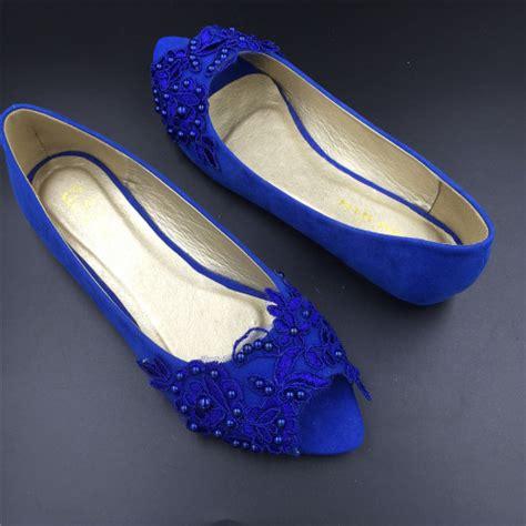 royal blue flats shoes blue peep toe wedding shoes royal blue bridal dress