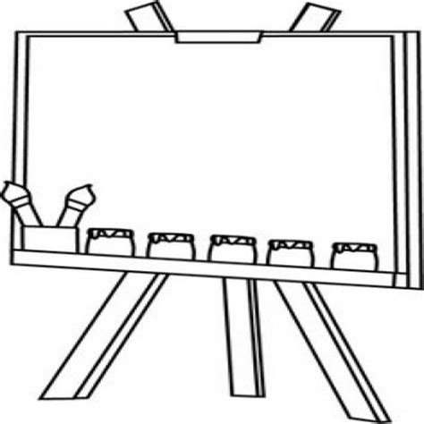 art easel coloring page art easel clipart black and white collection