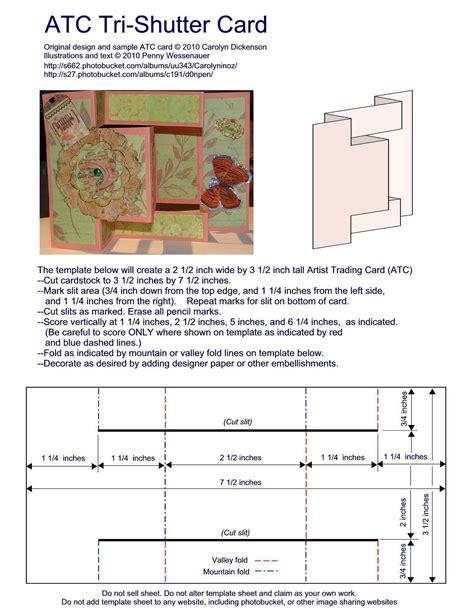 trifold shutter card templates http sandyallnock atc tri shutter card tri fold card card
