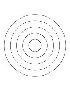 bullseye template printable 5 concentric circles clipart etc