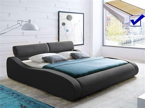 günstige schlafzimmer komplett mit lattenrost und matratze polsterbett artura bett 140x200cm anthrazit matratze