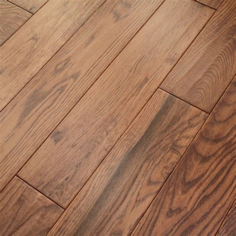wood flooring classic sunset stained oak 18x150mm handscraped abcd grade solid wood flooring