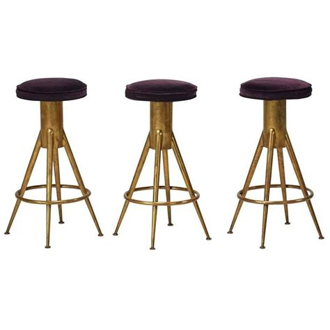 Italian Bar Stools by Set Of Three Mid Century Italian Bar Stools At 1stdibs