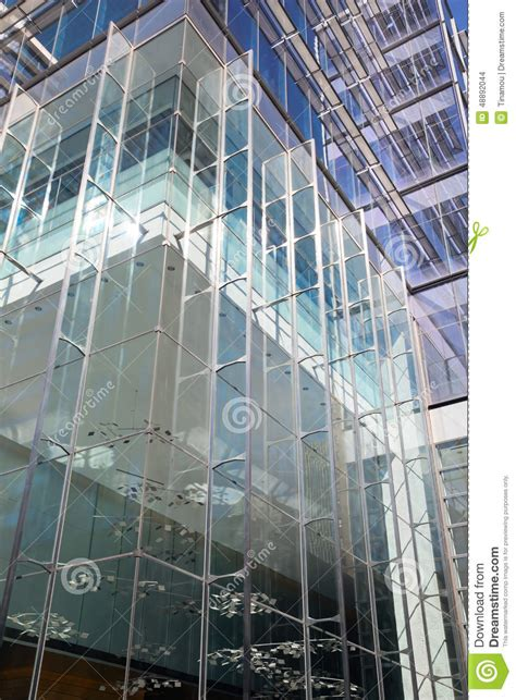 modern architecture office building with steel glass