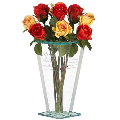 Engraved Flower Vase by Mothers Personalized Glass Vase Personalized Flower