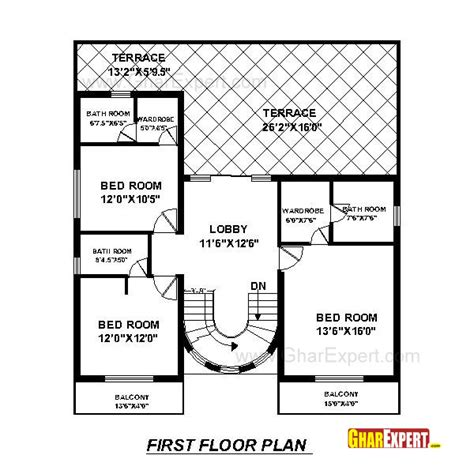 80 sq ft house plan for50 feet by 80 feet plot plot size 444