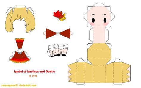 Touhou Papercraft - touhou shizuha aki papercraft by serenegrace21 on deviantart