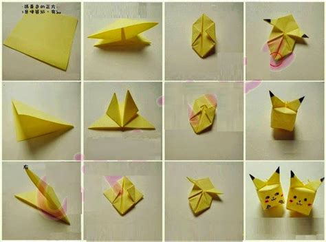 Origami Pokemons - how to make origami origami flower easy