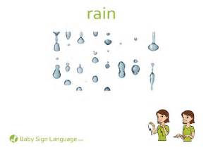 Baby sign language flash card u s letter printable rain baby sign