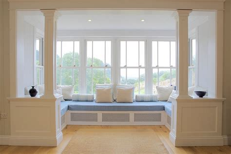 window seat designs bay window curtains ideas for privacy and beauty