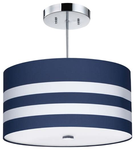 Childrens Light Fixtures Navy Stripes Light Fixture Contemporary Ceiling Lighting By Firefly Lighting