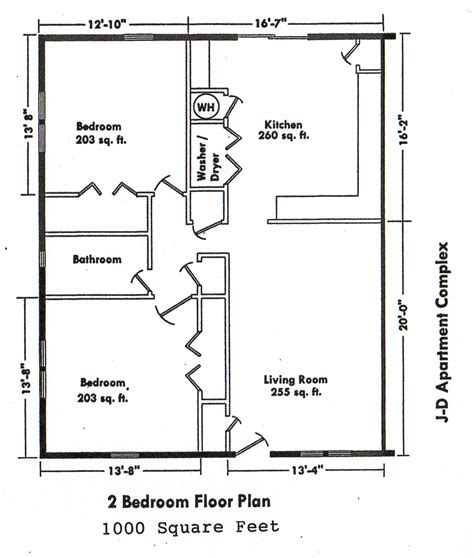 2 Bedroom 2 Bath House Floor Plans by Bedroom Floor Plans Over 5000 House Plans