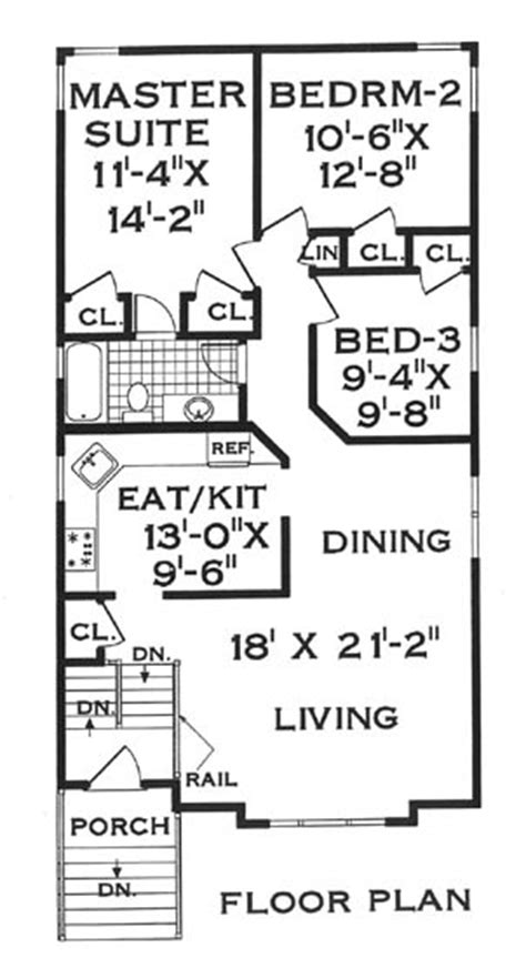 Narrow Lot Country Home 5806 5 Bedrooms And 2 5 Baths Country House Plans Narrow Lot