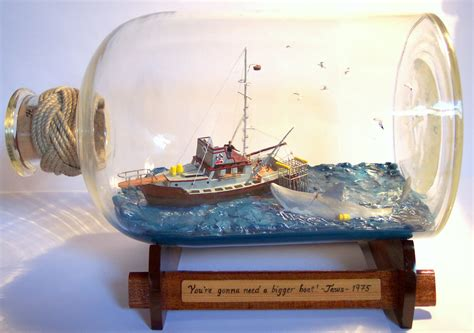 jaws fishing boat scene jaws scene in bottle s g ships in bottles