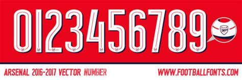 arsenal font 2017 image gallery 2016 2017 number