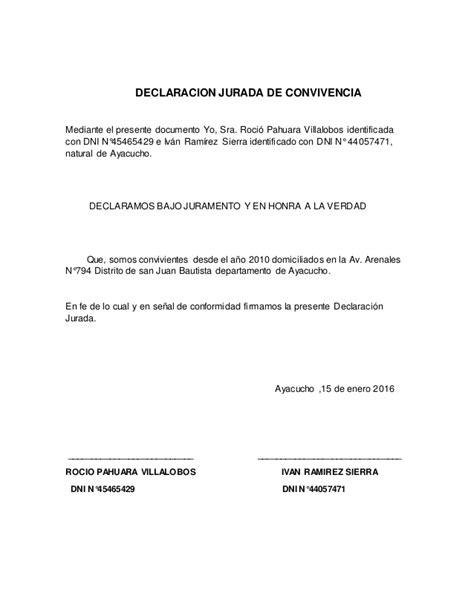 declaracion jurada de convivencia declaracion jurada de convivencia 1