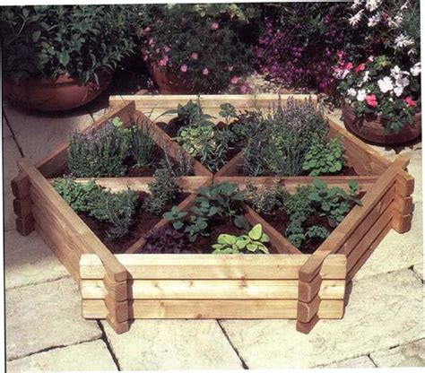 herb garden planter box growing herbs or vegetables in garden pots and planters