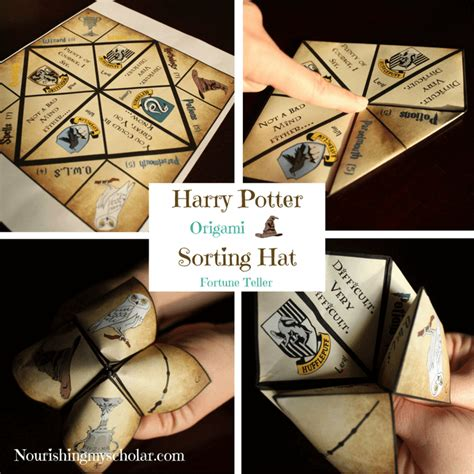 Origami Harry Potter - harry potter origami sorting hat fortune teller