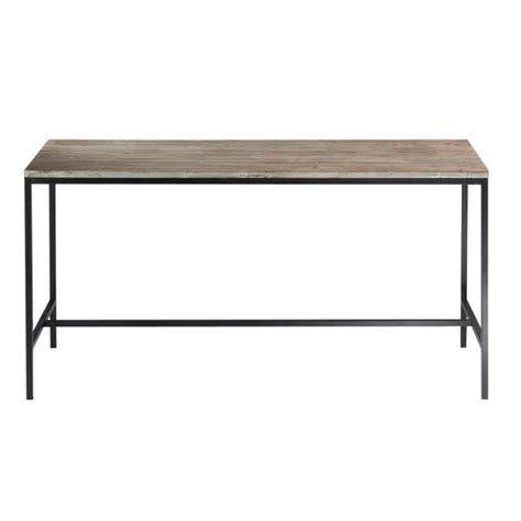 Wood And Metal Dining Tables Solid Wood And Metal Industrial Dining Table W 210cm Island Maisons Du Monde