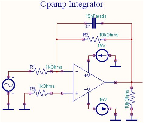 circuit of integrator lifier op integrator