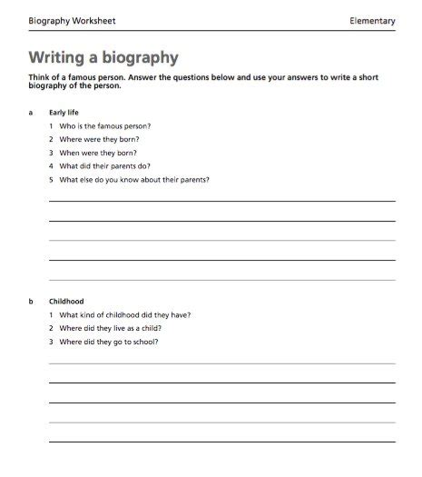 personal biography template search results for personal biography template