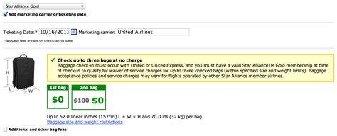 united baggage allowance united airlines baggage allowance