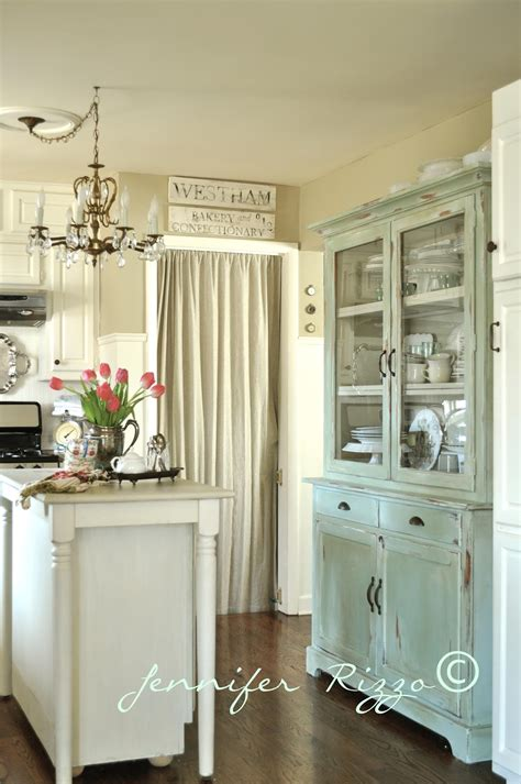 How to make a new piece of furniture look old with paint and distressing Kitchen hutch reveal