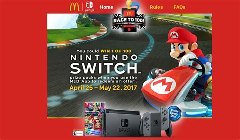 Giveaway Nintendo Switch - mcdonald s is now running a nintendo switch giveaway modojo