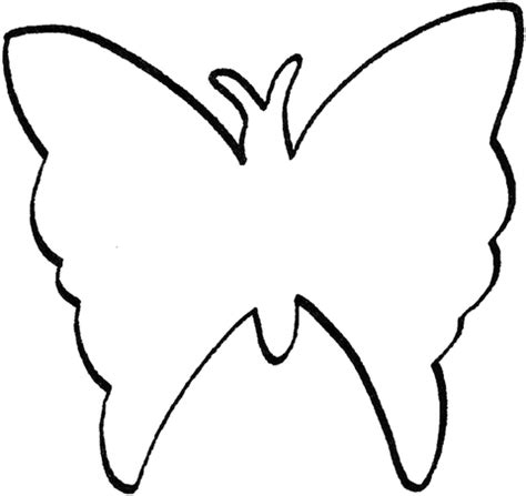 butterfly outline template butterfly