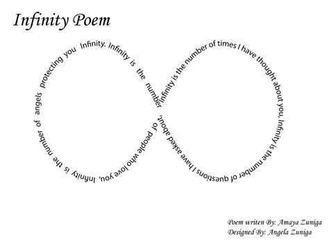 Infinity With Words Infinity Poem Freshmanrep2014
