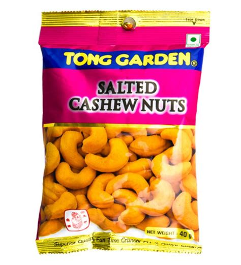 tong garden salted cashew nuts 40g snacks