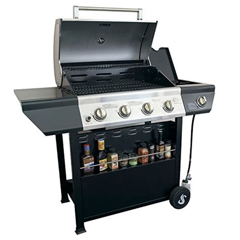 Backyard Grill Stainless Steel 4 Burner Gas Grill by Space 60000 Btu 4 Burner Side Burner Patio Garden