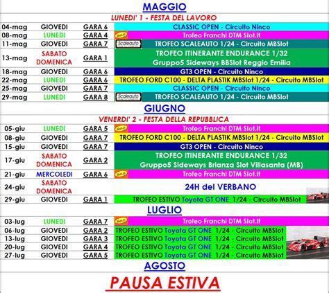 Bsn Calendario Aggiornamento Calendario Bsn Maggio Giugno Luglio