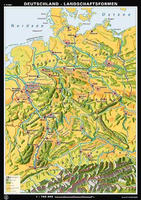 gebirgskarte deutschland carte d allemagne ou carte allemagne