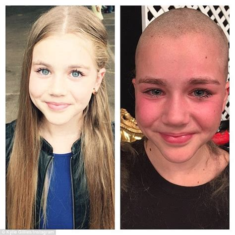 female headshave this month sydney girl 11 who shaved hair for cancer patients