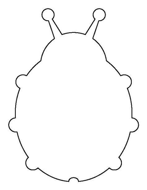 bug template printable ladybug pattern use the printable outline for crafts