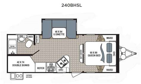 bunkhouse rv floor plans dutchmen kodiak 240bhsl bunkhouse travel trailer family