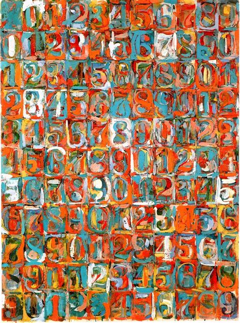 johns colors jasper johns on alphabet numbers and word ladders