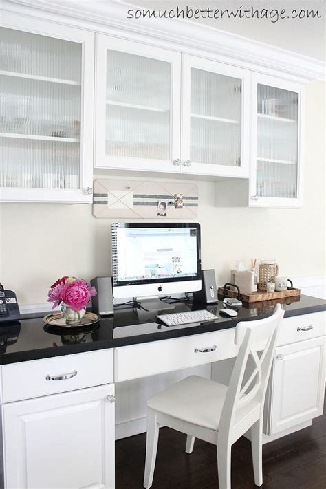 Kitchen Office Desk Remodelaholic 25 Clever Kitchen Storage Ideas