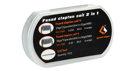 L62 Fused Clapton Kanthal A1 Coil 0 8 Ohm Khantal Kantal Rda Rdta 8pcs geekvape fused clapton coil 2 in 1