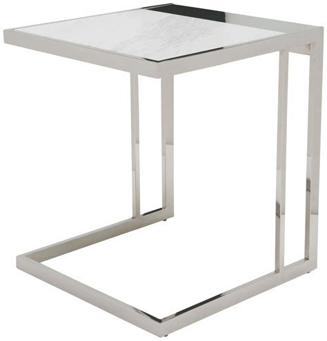 white and silver side table ethan white side table hgtb172 nuevo