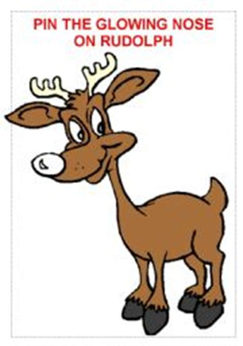 pin the nose on rudolph template teaching worksheets rudolph the nosed reindeer