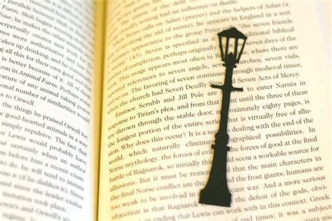 free printable narnia bookmarks narnia l post hand cut silhouette bookmark the