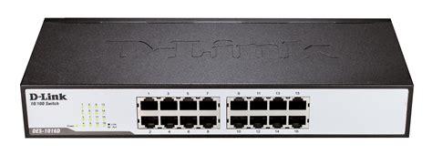 Dlink Switch Hub Unmanaged Des 1016d Des1016d 16port d link des 1016d 16 port 10 100mbps desktop switch durable metal housing des 1016d mwave