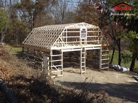 pole barn with gambrel roof truss kit pa nj apm buildings residential polebarn building branchville tam lapp