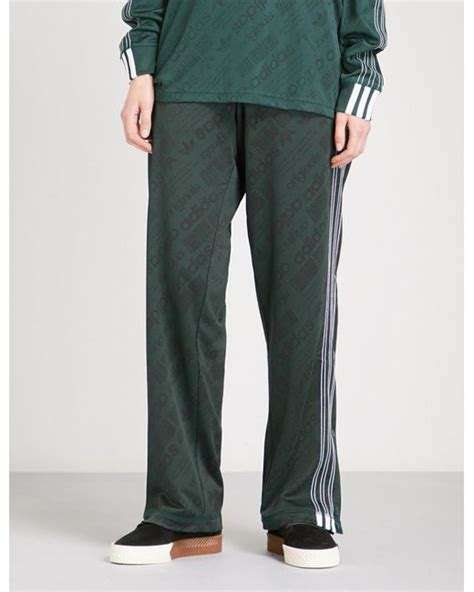 patterned jogging bottoms lyst alexander wang jacquard pattern jersey jogging