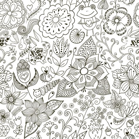 flower doodle coloring pages doodle coloring pages flowers coloringstar