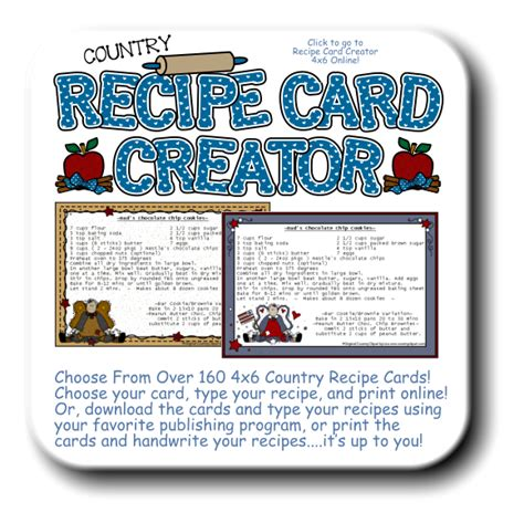 printable recipe card generator 6 best images of country report printable template