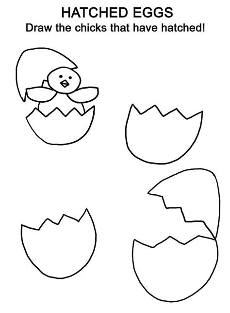 Cracked Egg Coloring Page by Cracked Egg Coloring Page Coloring Pages