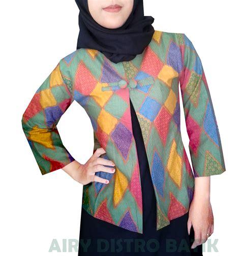 Cardigan Motif Batik By Canseeshop jual blazer cardigan batik motif rangrang 8 kancing